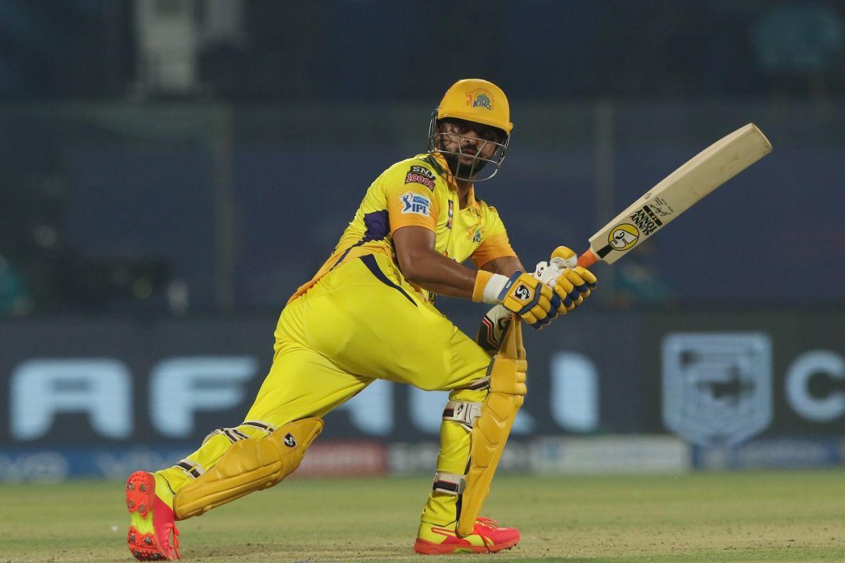 Suresh Raina sealed the victory with a four, Chennai Super Kings vs Sunrisers Hyderabad, IPL 2021, Delhi, April 28, 2021