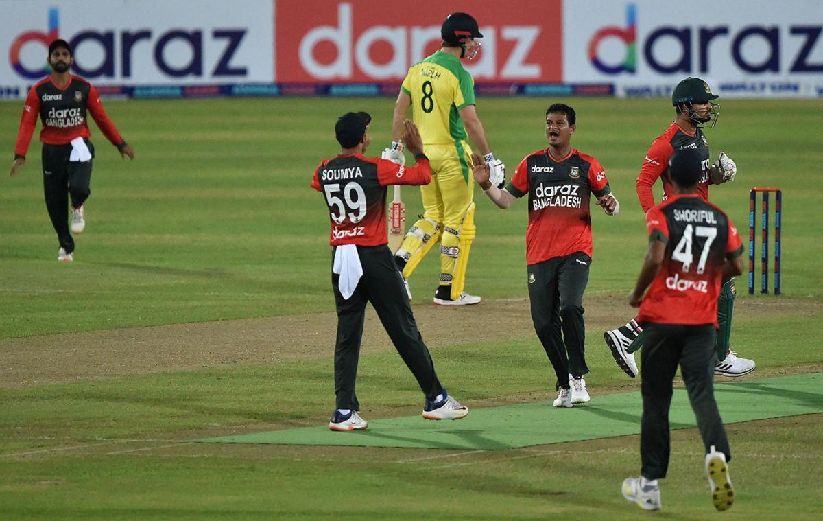 Nasum Ahmed caused Australia a lot of problems, Bangladesh vs Australia, 1st T20I, Dhaka, August 3, 2021