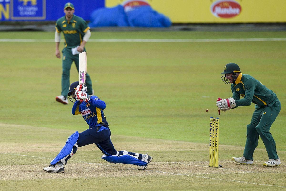 Heinrich Klaasen stumps Dhananjaya de Silva off Keshav Maharaj, Sri Lanka vs South Africa, 1st ODI, Colombo, September 2, 2021