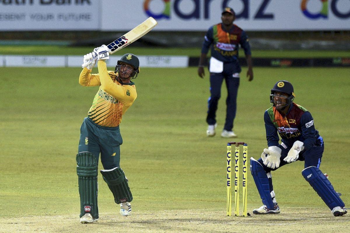 Quinton de Kock goes over the top, Sri Lanka vs South Africa, 1st T20I, Colombo, September 10, 2021