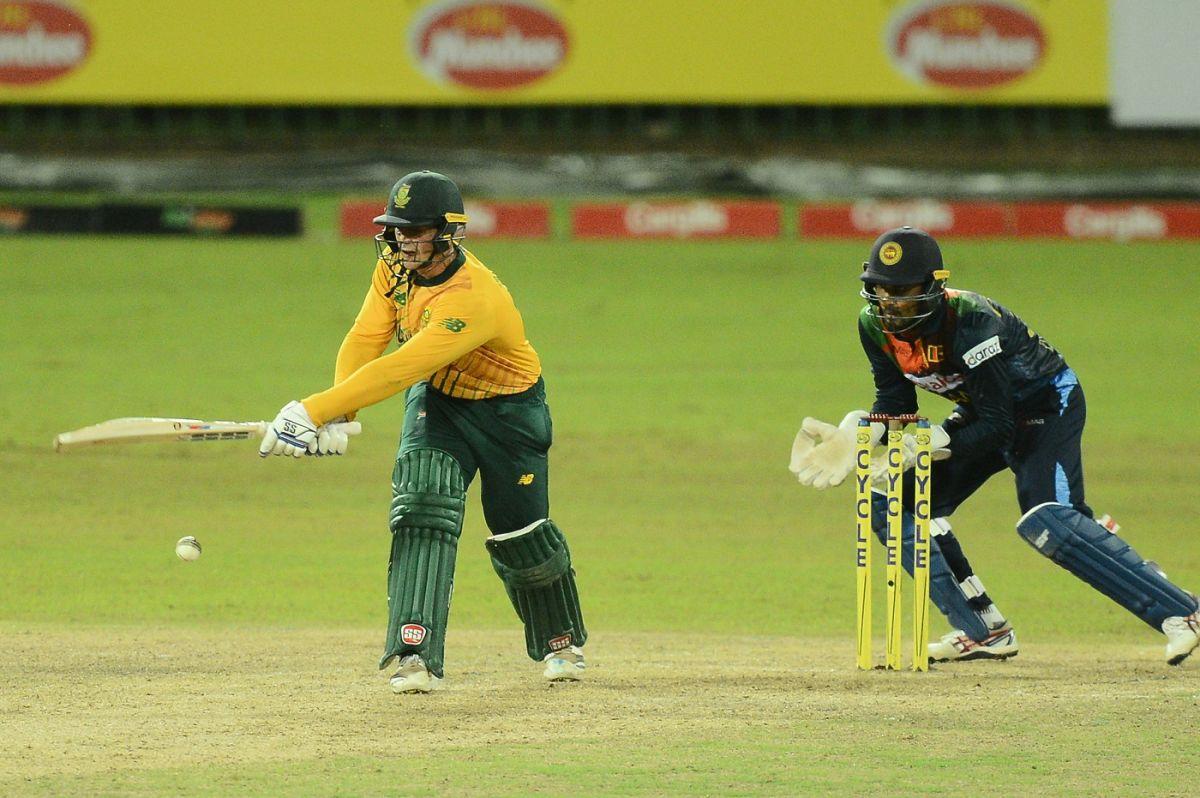 Quinton de Kock swats one away, Sri Lanka vs South Africa, 3rd T20I, Colombo, September 14, 2021