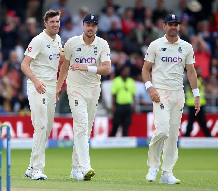 Craig Overton, Ollie Robinson and James Anderson @PA Photos/ Getty Images