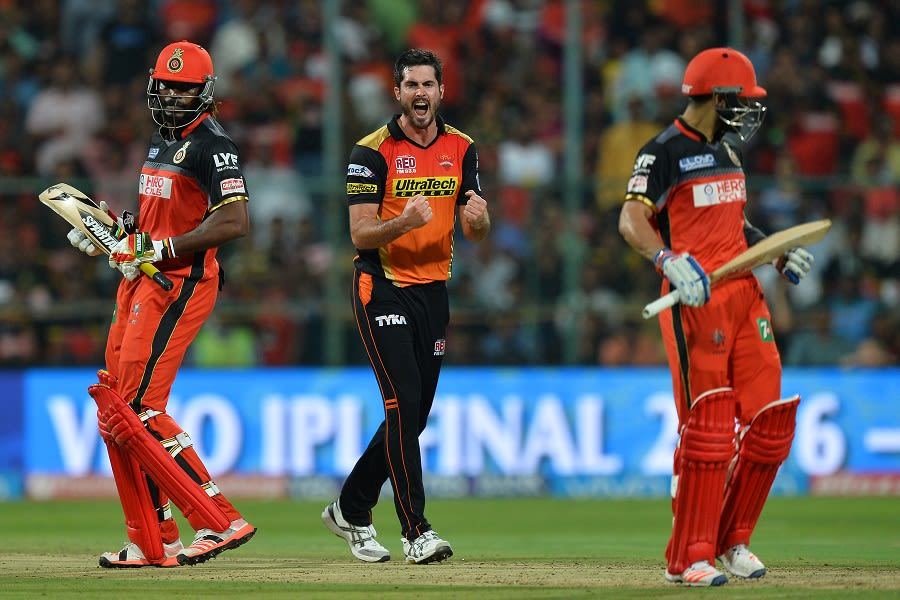 Ben cutting got rid of the dangerous, Chris Gayle to seal the final for SRH  in IPL 2016 || Image Source: BCCI