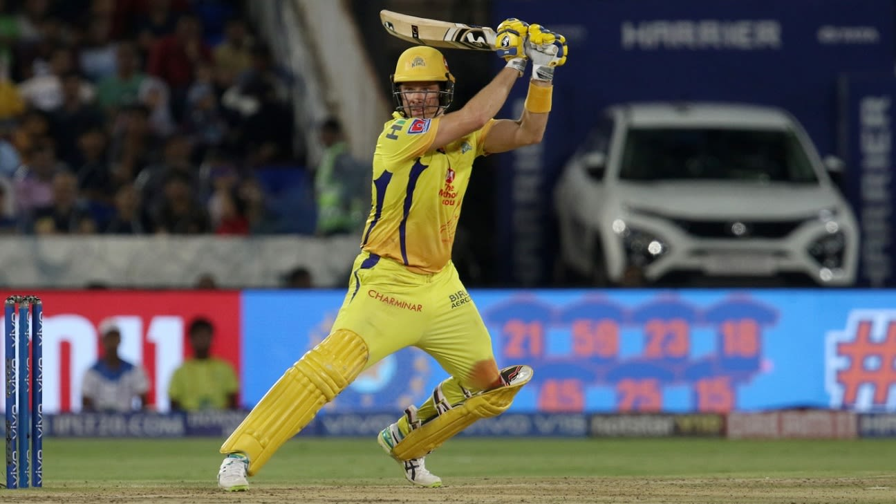 Shane Watson lauds Chennai Super Kings' 'world-class leaders' for backing him during IPL 2019 | ESPNcricinfo.com - ESPNcricinfo