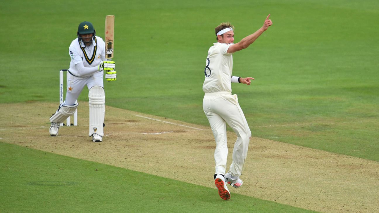 Stuart Broad: England 'a little bit disappointed' not to have bowled Pakistan out