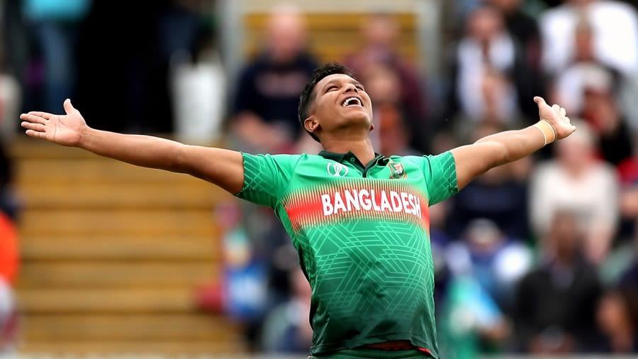 Mohammad Saifuddin celebrates a wicket Getty Images