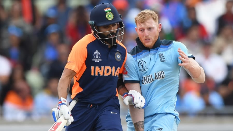 Virat Kohli and Ben Stokes bump into each other  Getty Images