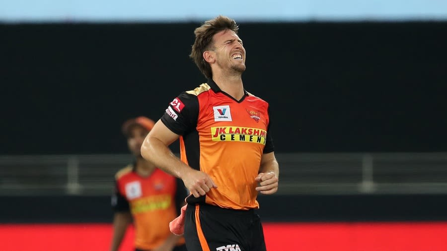 Mitchell Marsh winces in pain BCCI