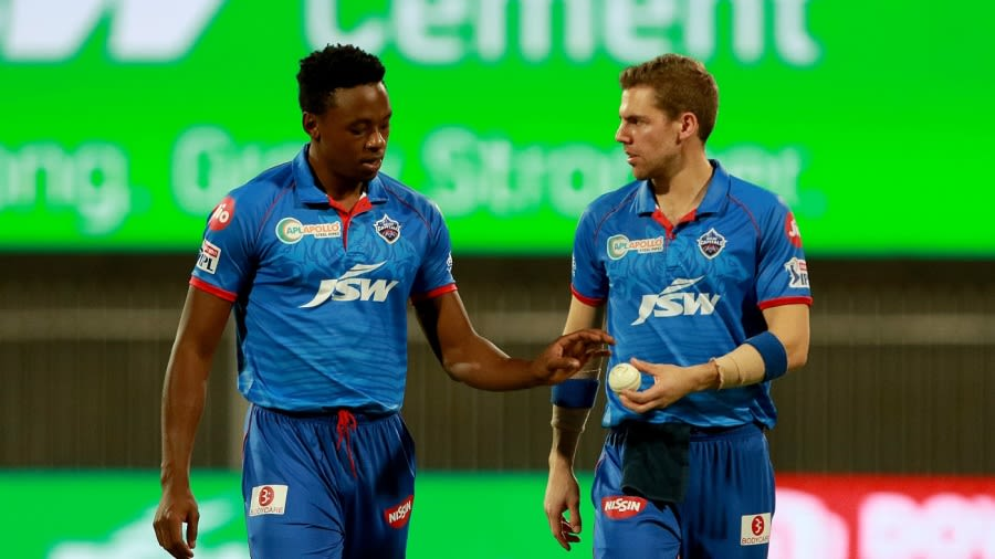 Kagiso Rabada and Anrich Nortje compare notes BCCI