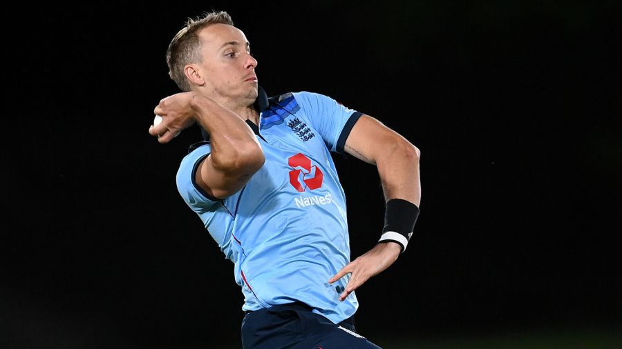 Tom Curran in his delivery stride Getty Images
