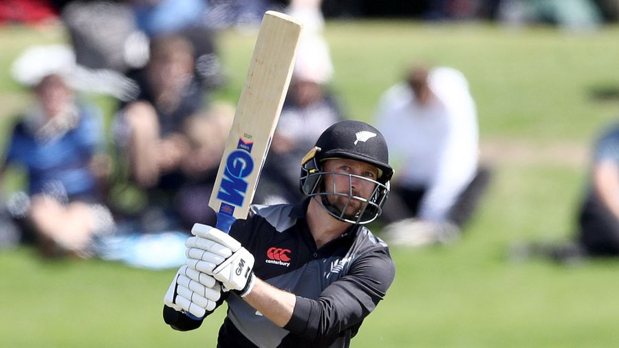 Devon Conway launches one down the ground Getty Images
