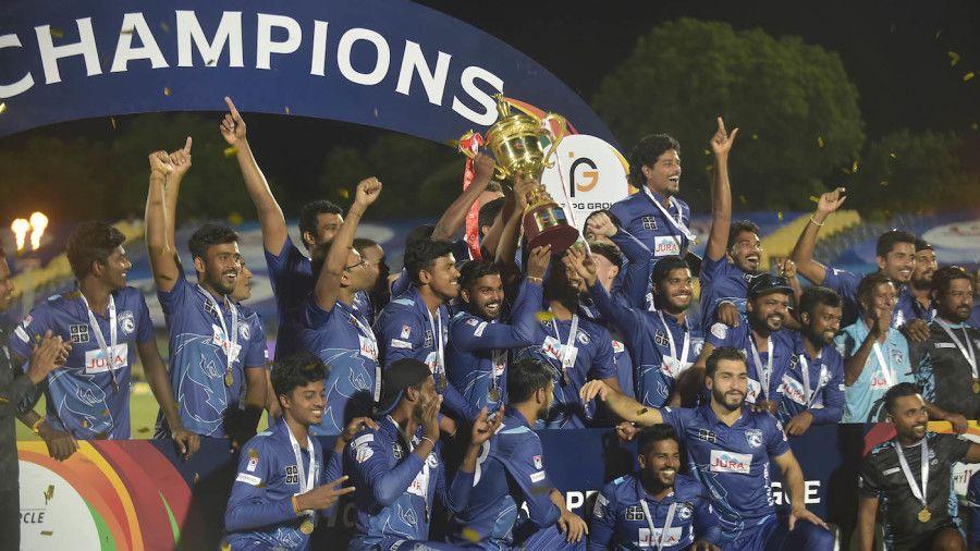 Jaffna Stallions won the first edition of the tournament Jaffna Stallions