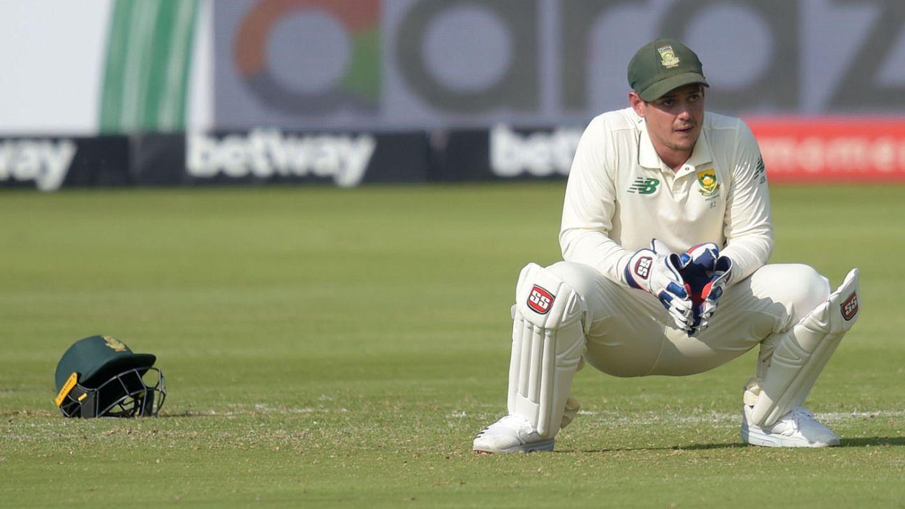 Security 'was a concern', but focus firmly back on cricket for de Kock - ESPNcricinfo