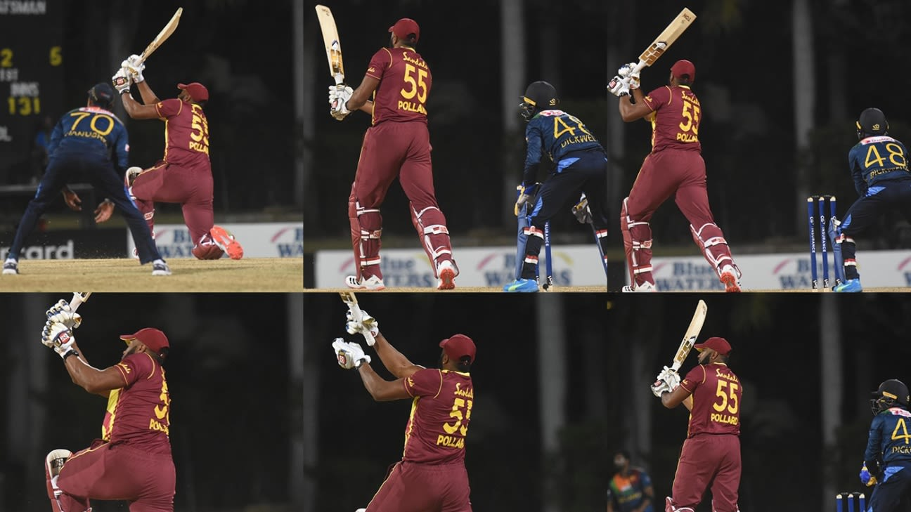 In pictures: How Kieron Pollard hit six sixes in an over - ESPNcricinfo