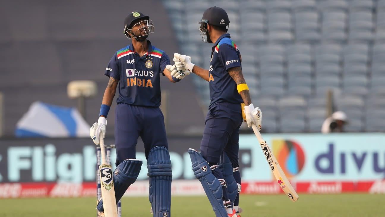 Debutants Prasidh Krishna and Krunal Pandya star in India's 66-run win