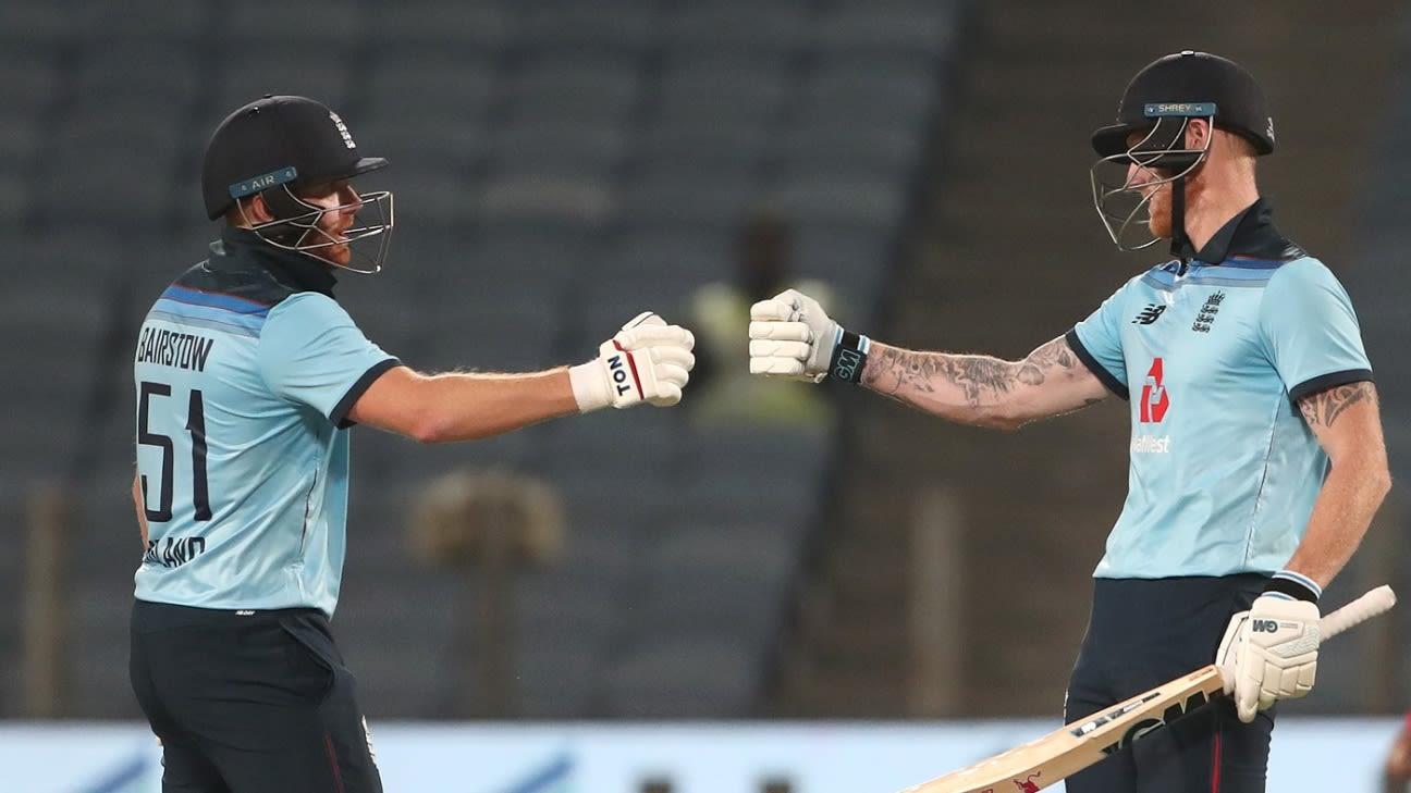 Jonny Bairstow, Ben Stokes decimate India to level series
