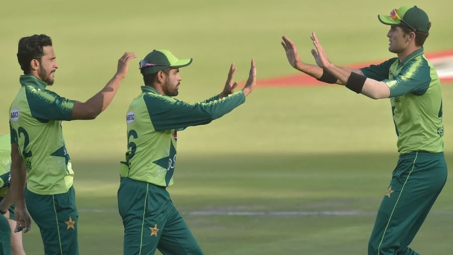 Story Image Hasan Ali, Babar Azam and Shaheen Afridi won't face Afghanistan next month AFP/Getty Images