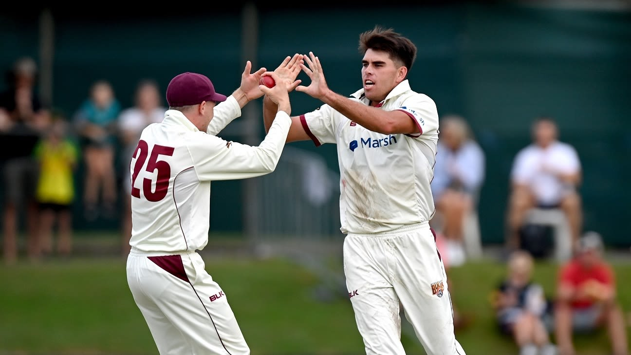 Xavier Bartlett and Brendan Doggett put Queensland within touching distance of title