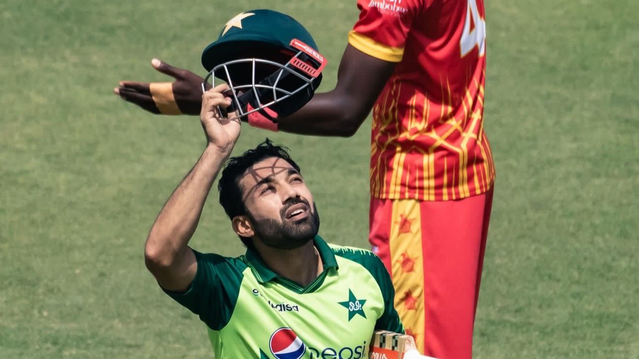 Pakistan's Mohammad Rizwan breaks into top 10 for T20I batters