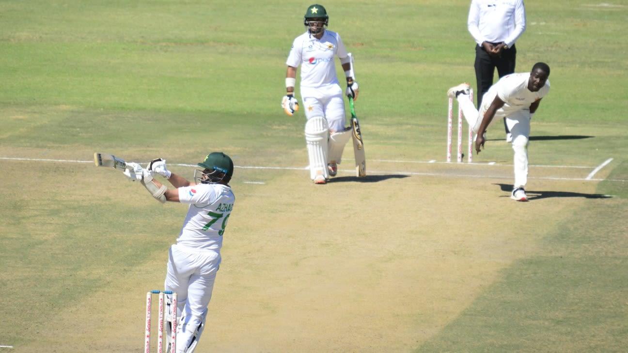 [espncricinfo]Azhar, Abid keep Pakistan steady after losing Butt early