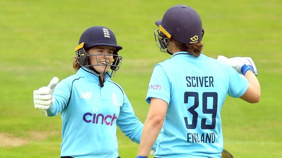 Tammy Beaumont and Nat Sciver stitched an unbroken 119-run partnership PA Photos/Getty Images