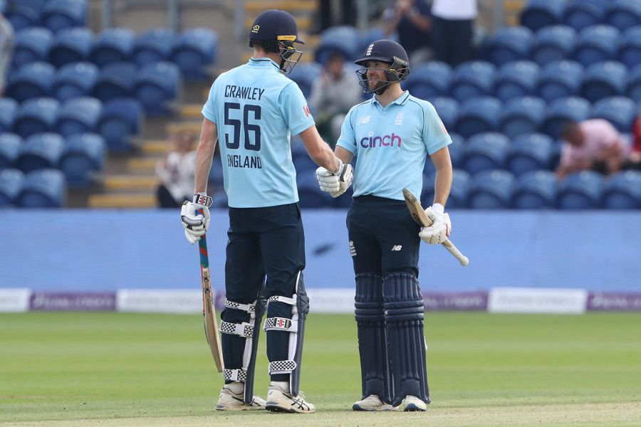 Zak Crawley and Dawid Malan steered England home AFP/Getty Images
