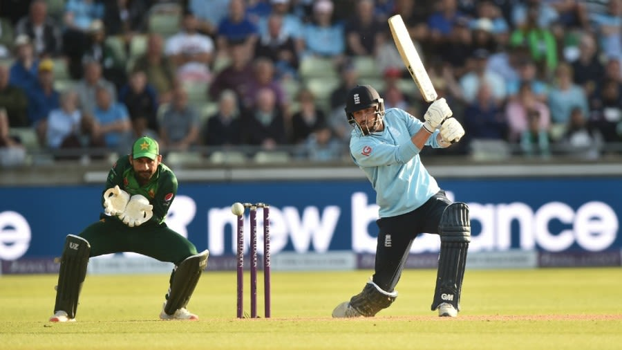 James Vince drives through the covers during his maiden England hundred Getty Images
