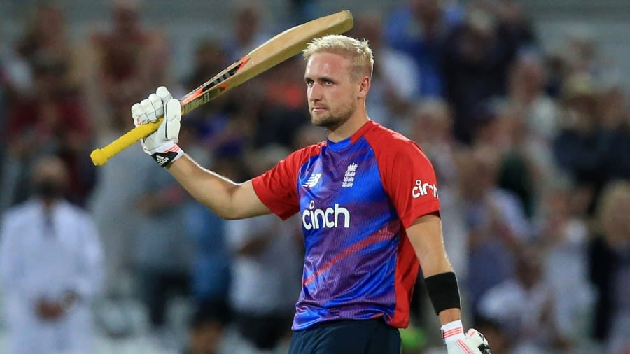 Liam Livingstone made a 42-ball century, the fastest in England's T20I history Getty Images