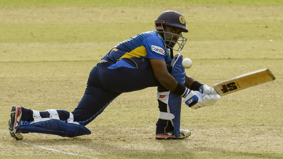 Charith Asalanka top-scored for Sri Lanka with 65 ISHARA S. KODIKARA/AFP/Getty Images
