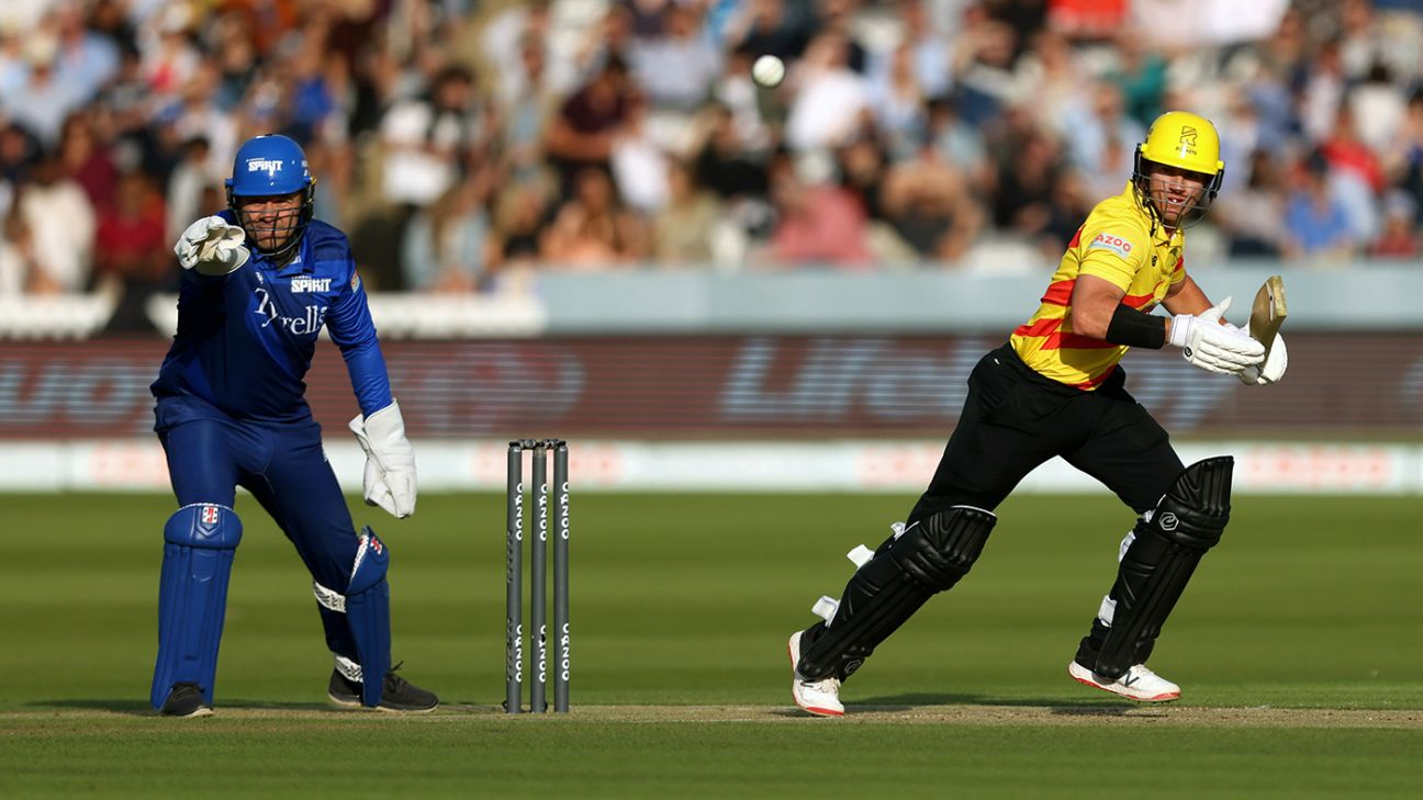 Trent Rockets spinners defend 123 after D'Arcy Short's 69 puts game beyond Spirit