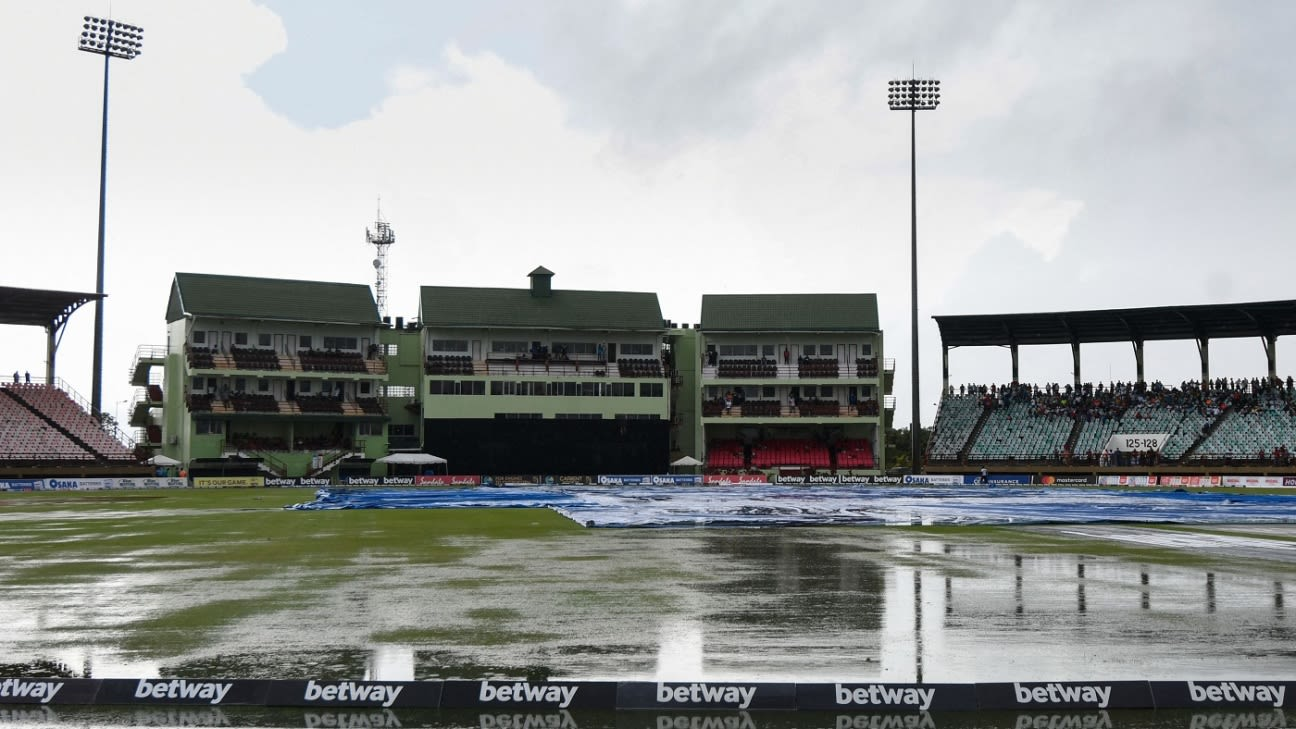 Pakistan win series 1-0 after rain forces another washout in Guyana